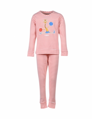 pyjama lm gestreept logo