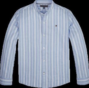 Hemd linnen gestreept logo