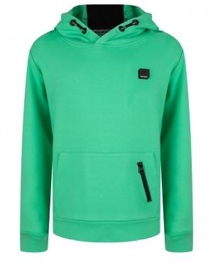 Sweater effen met kap logo