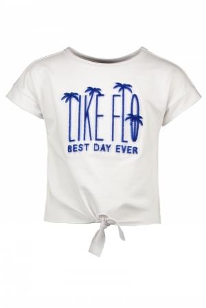 t-shirt blauwe bedrukking logo