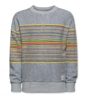 sweater gestreept logo