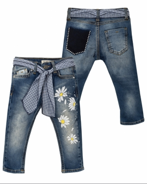 jeans bloemen logo