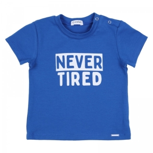 t-shirt Never tired logo
