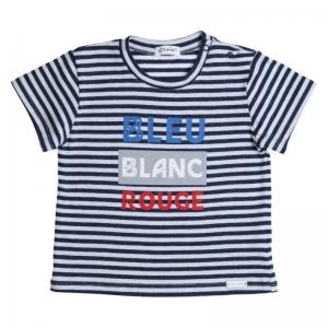 t-shirt Bleu blanc rouge logo