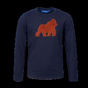 T-shirt oranje aap. logo