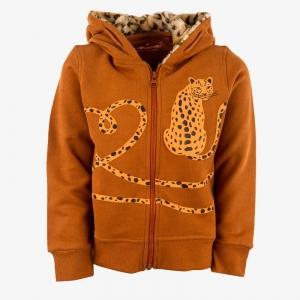 Sweater met rits logo