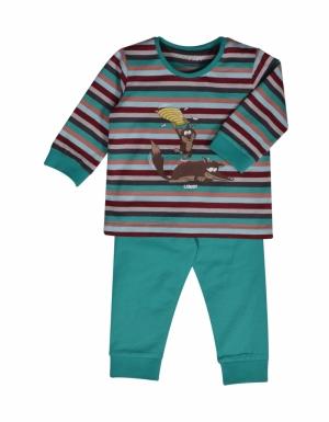 Jongens pyjama streep. logo