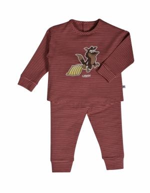 Meisjes pyjama gestreept. logo