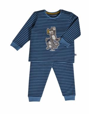 Jongens pyjama all over print. logo