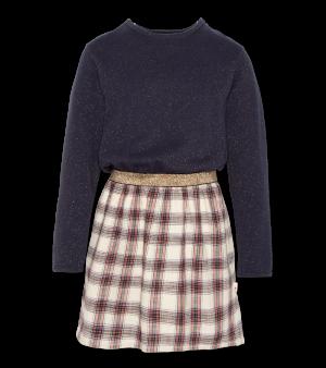 Kleed geruite rok logo