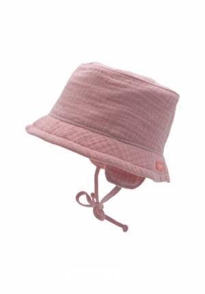 Meisjes hoed met touwtjes. logo