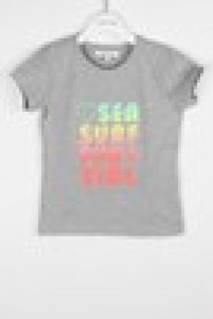 T-shirt tekst opgedrukt. logo