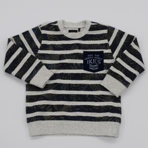 Sweater marine streep. logo