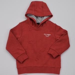 Sweater met kap uni print. logo