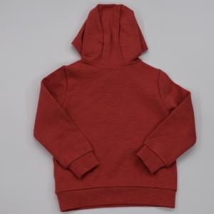 Sweater met kap uni print. corail
