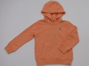 Sweater met kap effen. logo