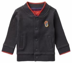 Sweatergilet met drukknopen. logo