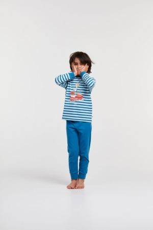 Jongens pyjama gestreept. logo