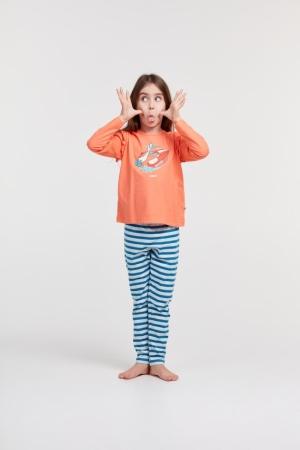 Meisjes pyjama lange mouw. logo