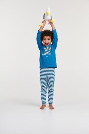 Jongen pyjama lange mouw. logo