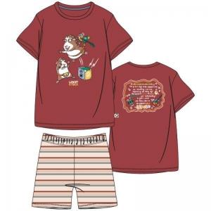 Jongens pyjama korte mouwen. logo
