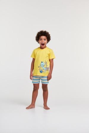 Jongens pyjama grote tekening. logo