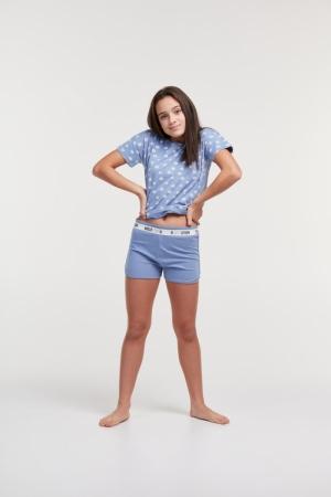 Meisjes pyjama met shortje logo