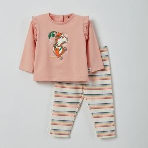 Meisjes pyjama lange mouwen logo