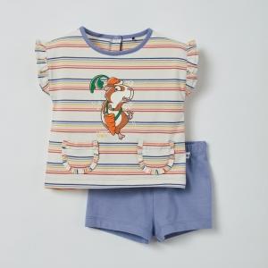 Meisjes pyjama met zakjes logo