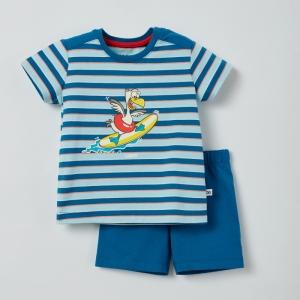 Pyjama gestreept logo