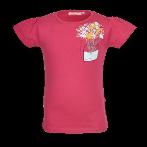 T-shirt vaas met bloemen logo