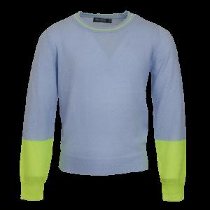 Pull tricot fluo mouwen logo