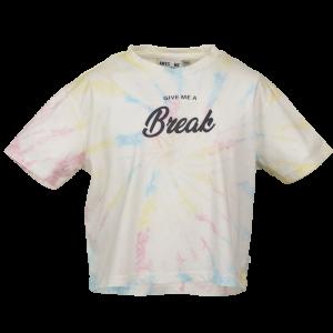 T-shirt crop, tie dye logo