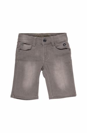 Jeans short grijs logo