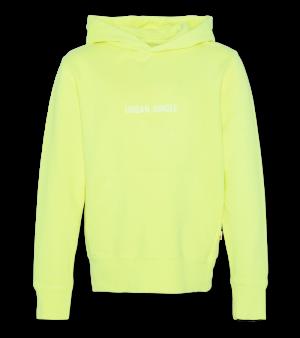 Sweater met kap fluo logo