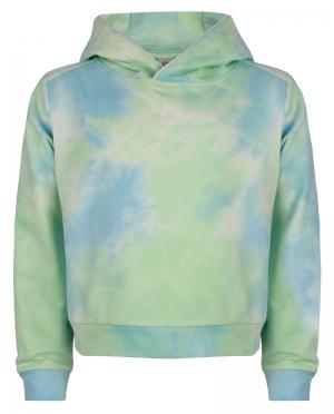 Sweater met kap tie dye logo