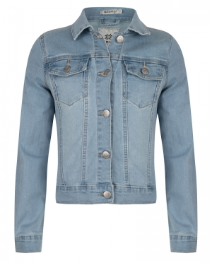 Jeans jas logo