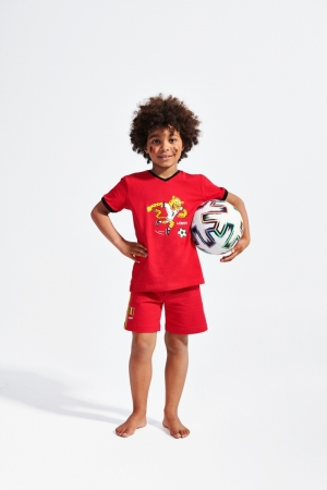 Pyjama V-neck voetbal. logo