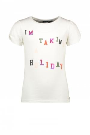 T-shirt open shoulder logo