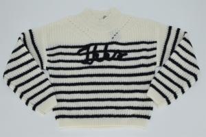 Pull tricot marine streep logo