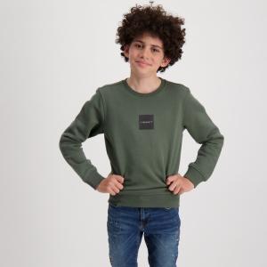 Sweater zwarte opdruk logo