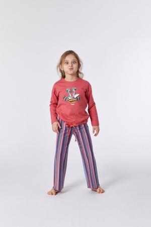 Meisjespyjama met touwtje logo