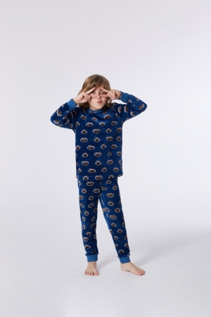 Jongens pyjama velours logo