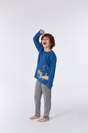 Jongens pyjama grote tekening logo