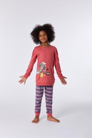 Meisjes pyjama met boord logo