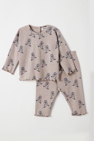 Meisjes pyjama rib logo