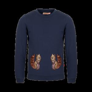 Sweater eekhoorn pailletten logo