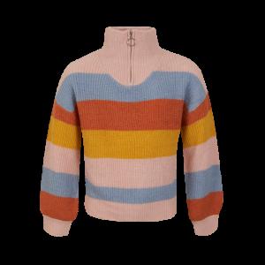 Pull tricot met ritsje logo