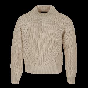 Pull effen tricot logo