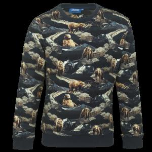 Sweater bedrukt. logo